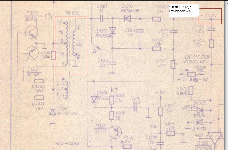 Oscyloskop OS-352 buczy, brak WN