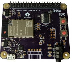 Obsidian ESP32 -płytka prototypowa z ESP32 w formacie Raspberry Pi (CrowdSupply)
