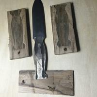 Nóż ze starego łożyska jako prezent.