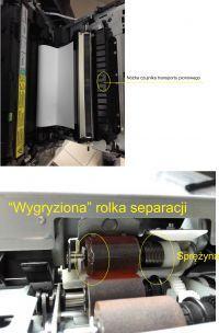 Konica Minolta Bizhub c253 - Zacina papier z bocznej szufady