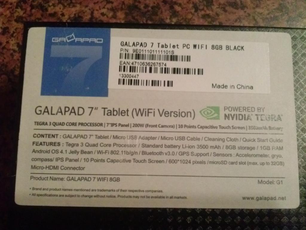 [Sprzedam] Okazja!! Nowy Palit GALAPAD 7 Nvidia