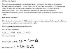 Sprawdzenie sprawozdania z Tematu Pomiar i regulacja prądu stałego