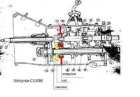 Ursus C-330M - Rozkr�cony dolny wa� w skrzyni bieg�w