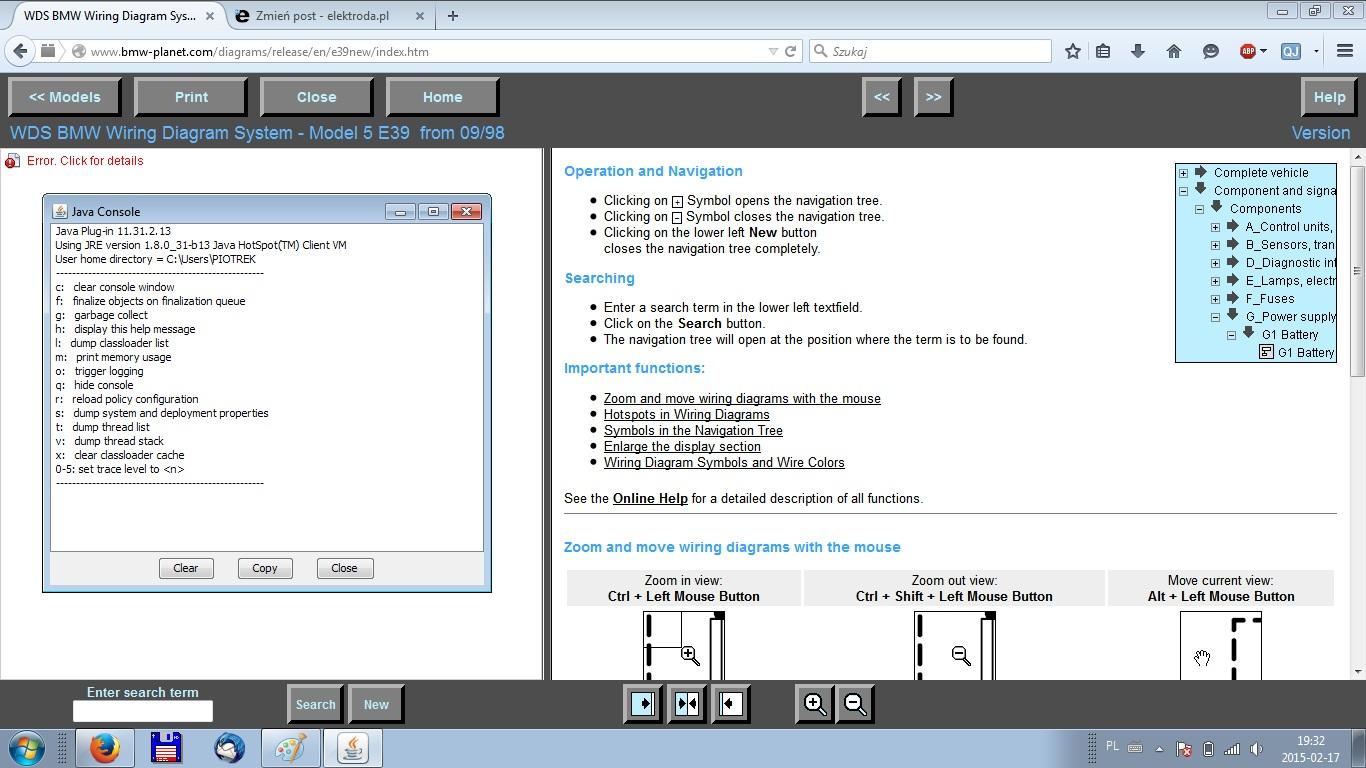 WIN 7 64b - Blokada java w WDS www.bmw-planet.com