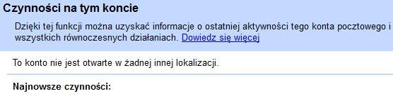 Gmail i sesja IP przegl�darka