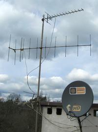 Antena do TV analogowei i DVB-T w Łodzi