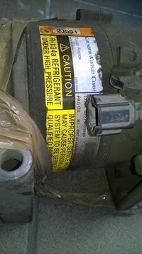 Demontaz sprzęgła sprężarki Nissan Almera