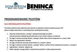 Beninca Core.-Jak zaprogramowac piloty TO.GO 2 WV?