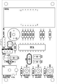 Układ podtrzymujący zasilanie w ukladzie zegara Atmel ATtiny2313