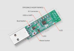 Dongle ITEAD Zigbee 3.0 USB z mikrokontrolerem EFR32MG21 od Silicon Labs