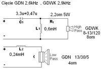 Kolumny 2.0 do PC dob�r zwrotnic, zestrojenie GDN 13/30/5, GDWK 8-13/120