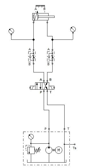 si�ownik hydrauliczny - schemat si�ownika hydraulicznego- serwomechanizm elektro