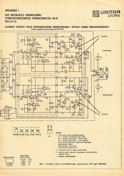 Unitra WS-311D - Zanik dźwięku w jednym kanale, za duże napięcia na T205 i T206