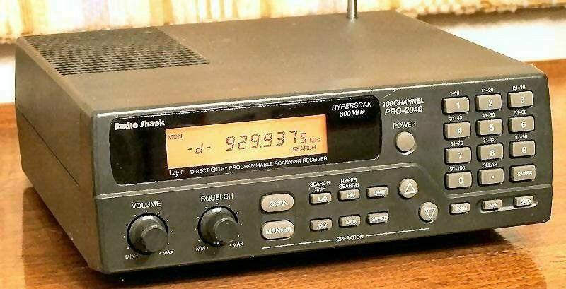 Radio Shack Pro 2040 VHF UHF Scanner Recieverr Manual