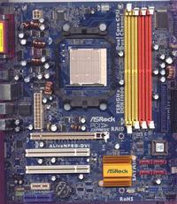 ASRock AM2NF6G-VSTA - spalony MOSFET o oznaczeniu D452