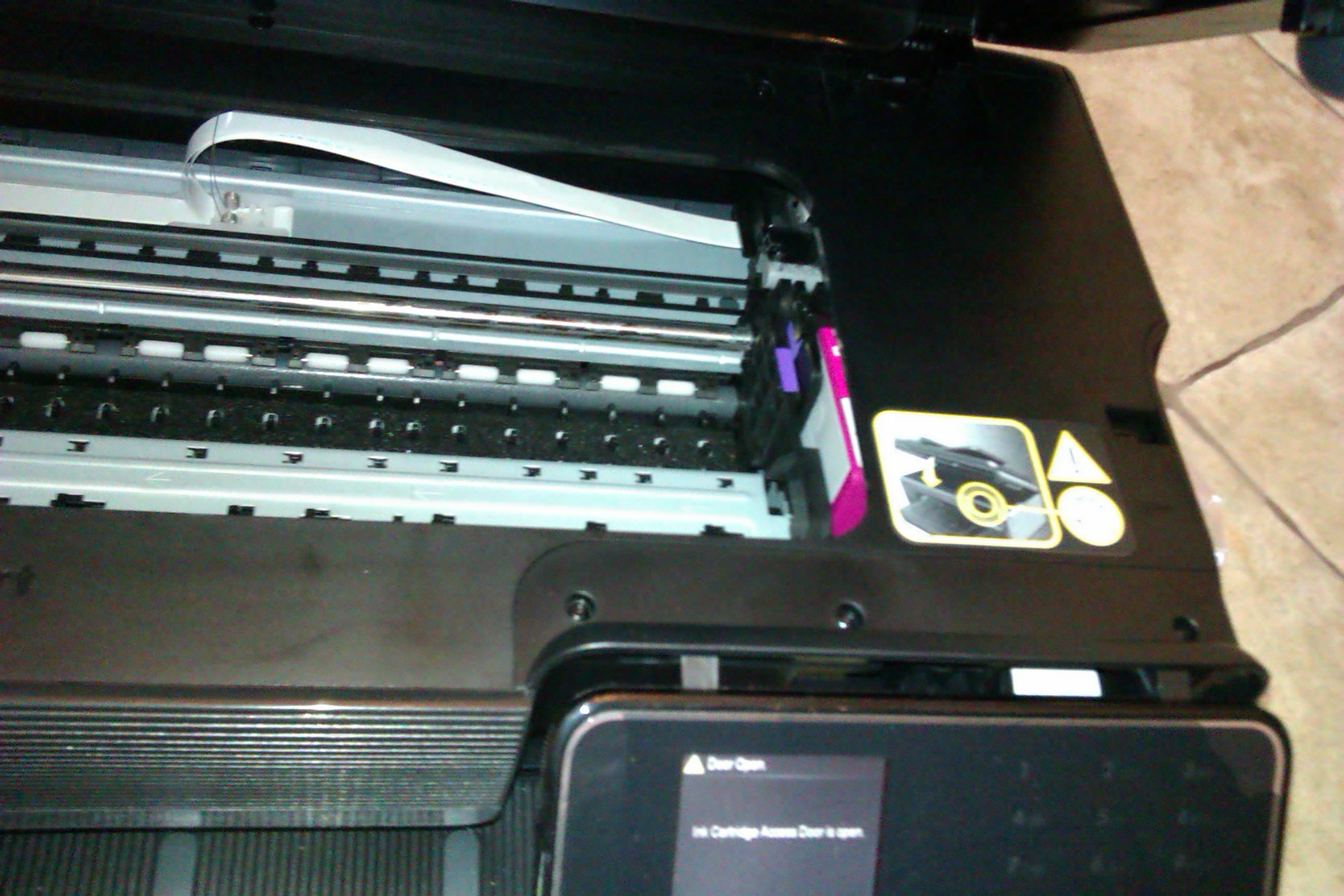 HP Officejet 7500A - 0xc19 0013 - zablokowany z prawej strony pojemnik z tuszam