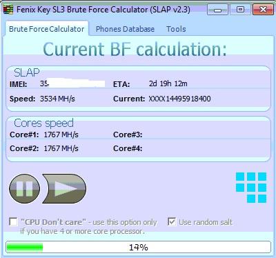 Simlock sl3 mx key długi czas