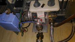 Skraplająca się woda przy piecyku termet TERMET TERMAQ ELECTRONIC G-19-02
