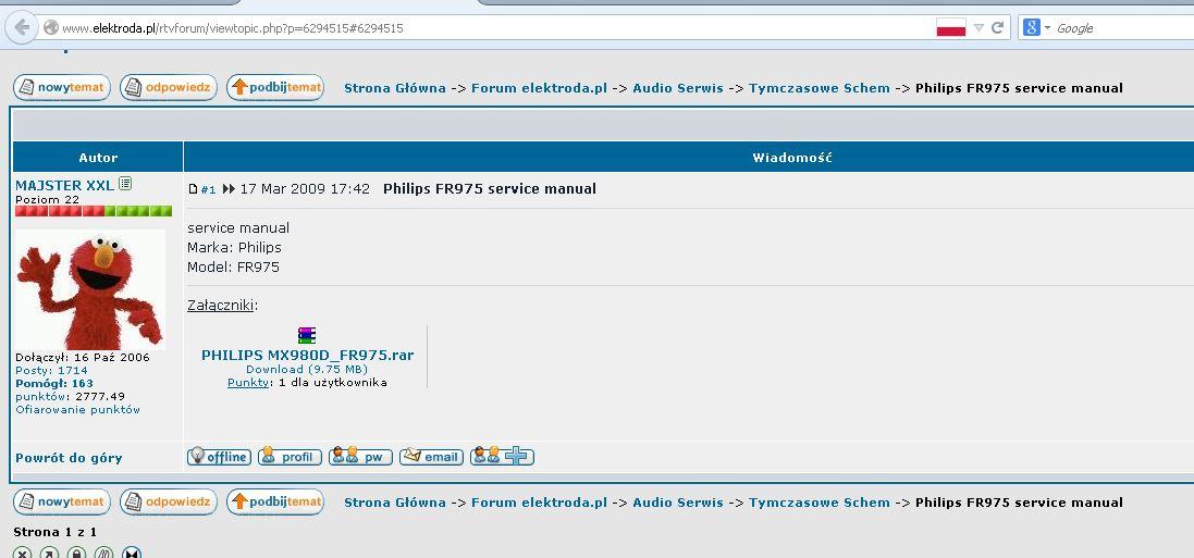 Philips FR984 - Szukam schematu tego amplitunera