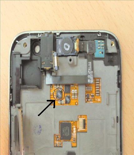 SAMSUNG GALAXY S I9000. Uszkodzony element. Co to jest?