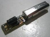 256-bitowy klucz elektroniczny własnej konstrukcji.