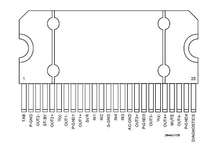 Wyprowadznie syg. dla wzmacniacza z radia Philips 22DC705/23