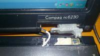 HP Compaqu nc6230 - Obudowa wewn�trzna, zawias mocuj�cy ekran