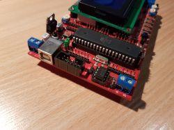 [Sprzedane] Zestaw uruchomieniowy EVB 4.3 ATMEGA 16/32/664 LCD HD44780 4x20 znak