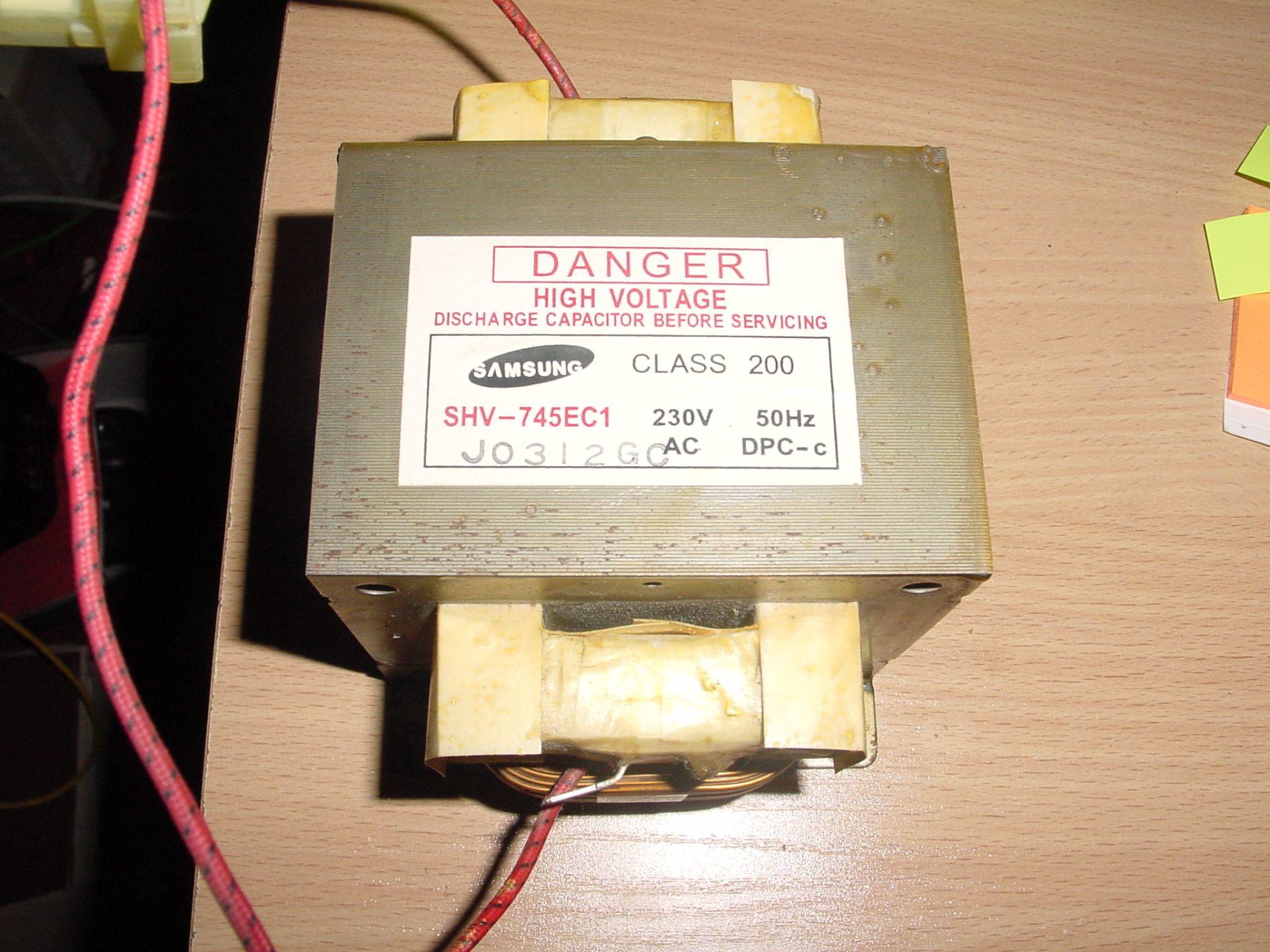[Sprzedam] Transformator z kuchenki mikrofalowej Samsung