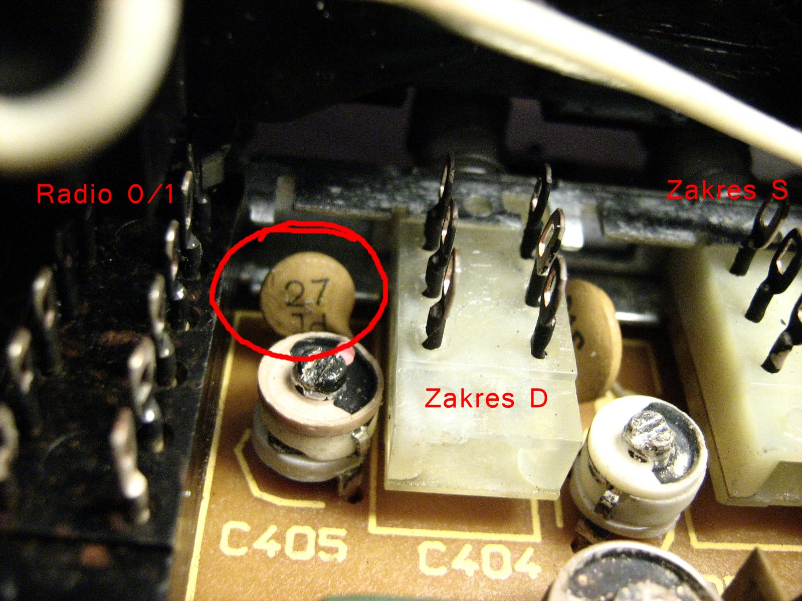 ZRK RM 222 elementy g�owicy. - Cewki i trymery.