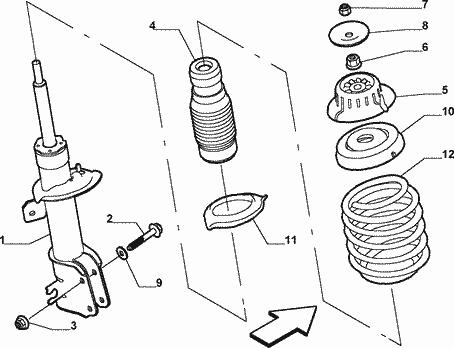 Fiat Stilo Wymiana Poduszki Przednich Amortyzatorów Fiat