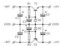 Stabilizator napięcia - tranzystor + dioda Zenera