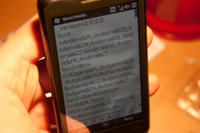 HTC Touch HD- plamy na wyświetlaczu