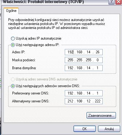 Konfiguracja routera Linksys WRT54GC