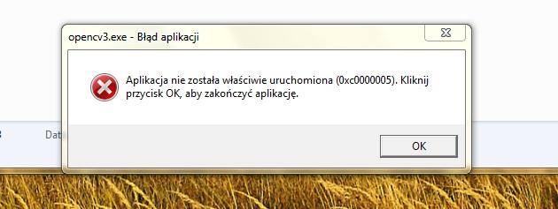 [openCV] - b��d 0xc0000005 -aplikacja nie zosta�a w�a�ciwie uruchomiona