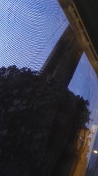 Słup elektryczny przed oknem budynku mieszkalnego