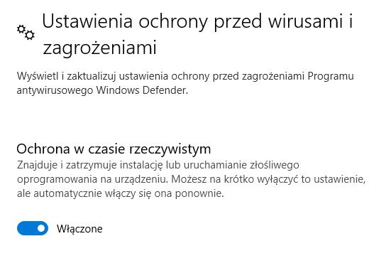 jak wylaczyc windows defender w windows 10 pro