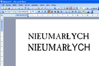 MS Office 2003 - Brak polfont�w w Wordart w niekt�rych czcionkach