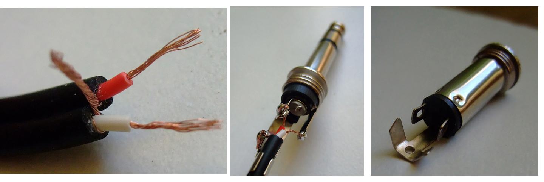 Przed�u�ka Jack (wtyk 6.3mm - gniazdo 3.5mm) lutowanie