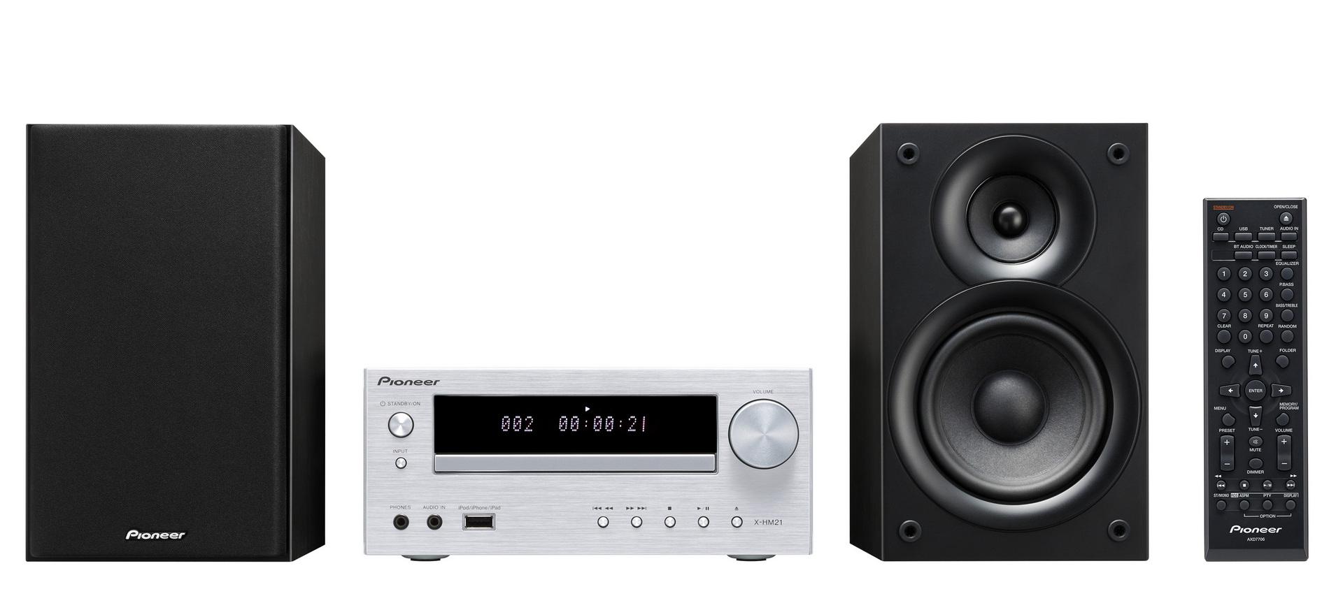 Pioneer X-HM21-S - miniaturowy zestaw stereo z podstawk� dla iPod
