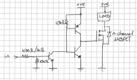 Grzejący sie MOSFET BUZ11 sterujący silnikiem krokowym z ATmegi8
