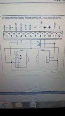 Fotokomórki XP20D i FAAC 741, po podłączeniu brama nie reaguje.