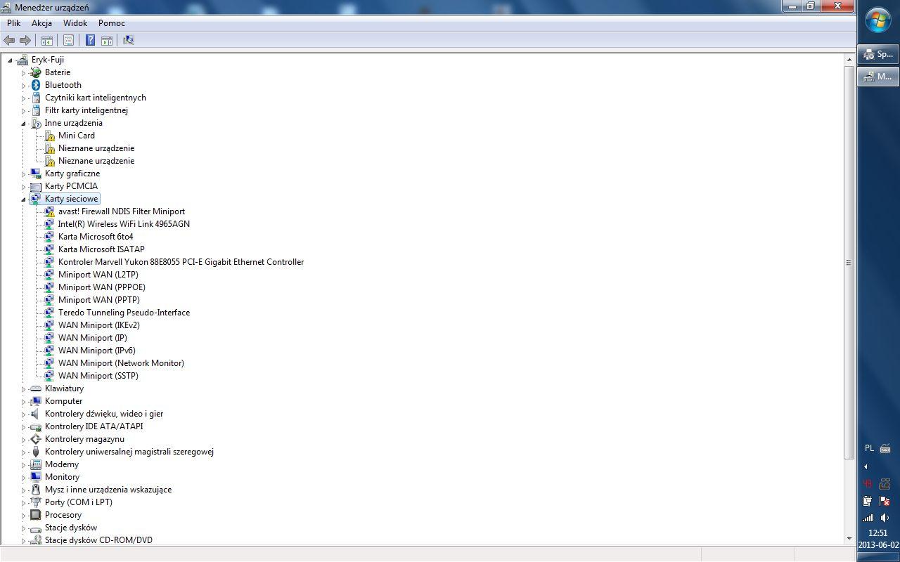 Fujitsu siemens Lifebook s 7210 - modem wewn�trzny - jaki?