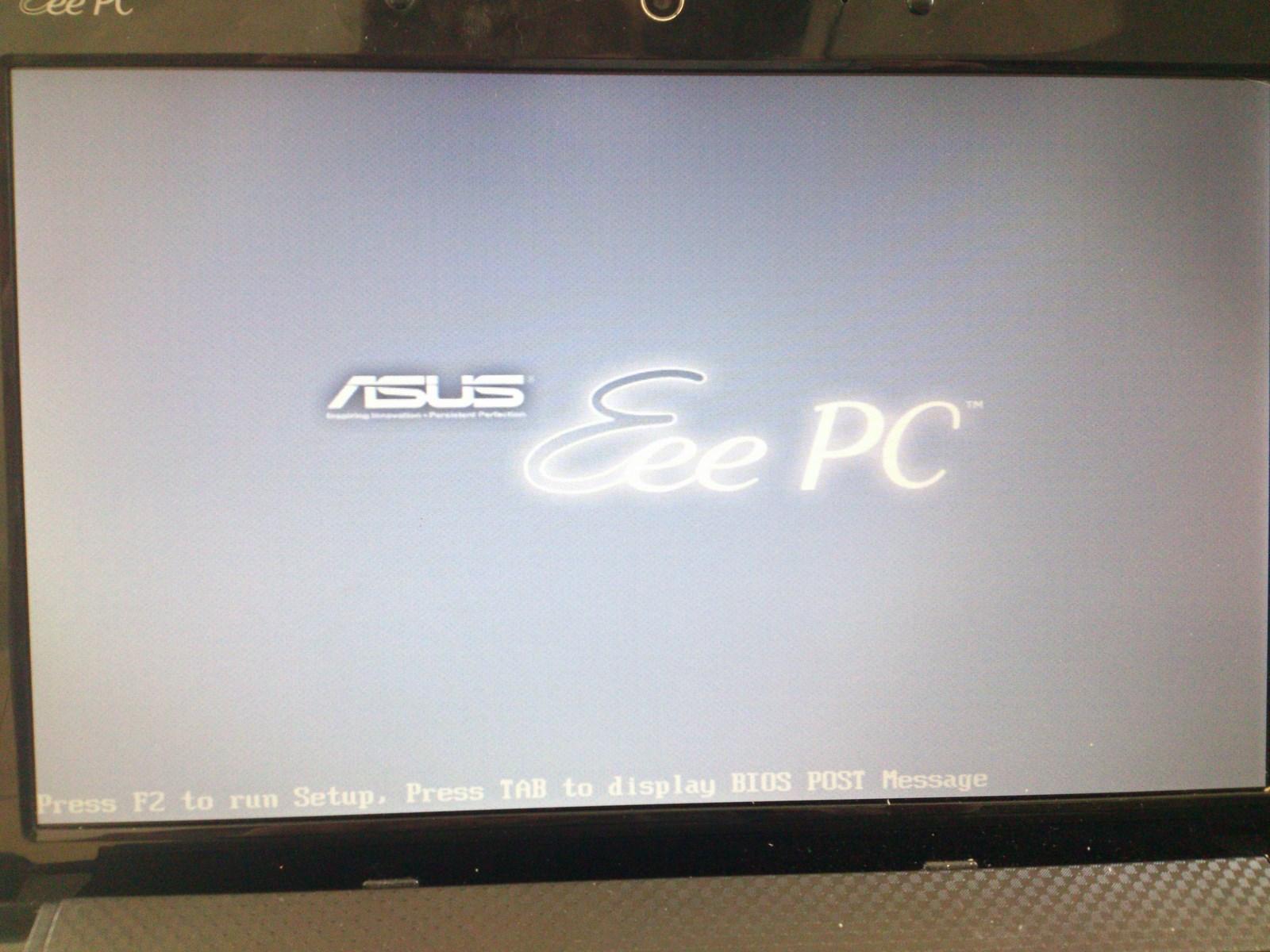 Eee PC 1001 HA - Netbook sie nie uruchamia