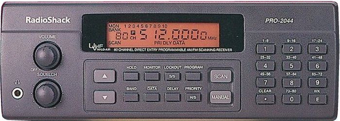 RadioShack PRO-2044, PRO2044 Instrukcja EN