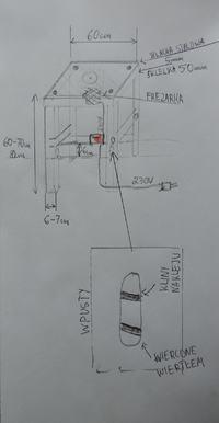 Budowa stołu do frezarki górnowrzecionowej