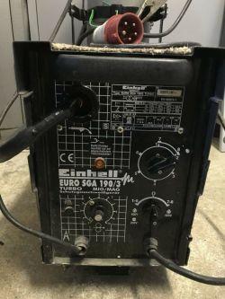 Einhell EURO SGA190/3 migomat złe podłączenie faz prądu, nie działa posów