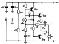 Wzmacniacz na tranzystorach BD140 i BD139, grzanie się tranzystora