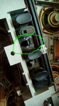 Unitra KLAUDIA RMS 801 - wymiana przycisku