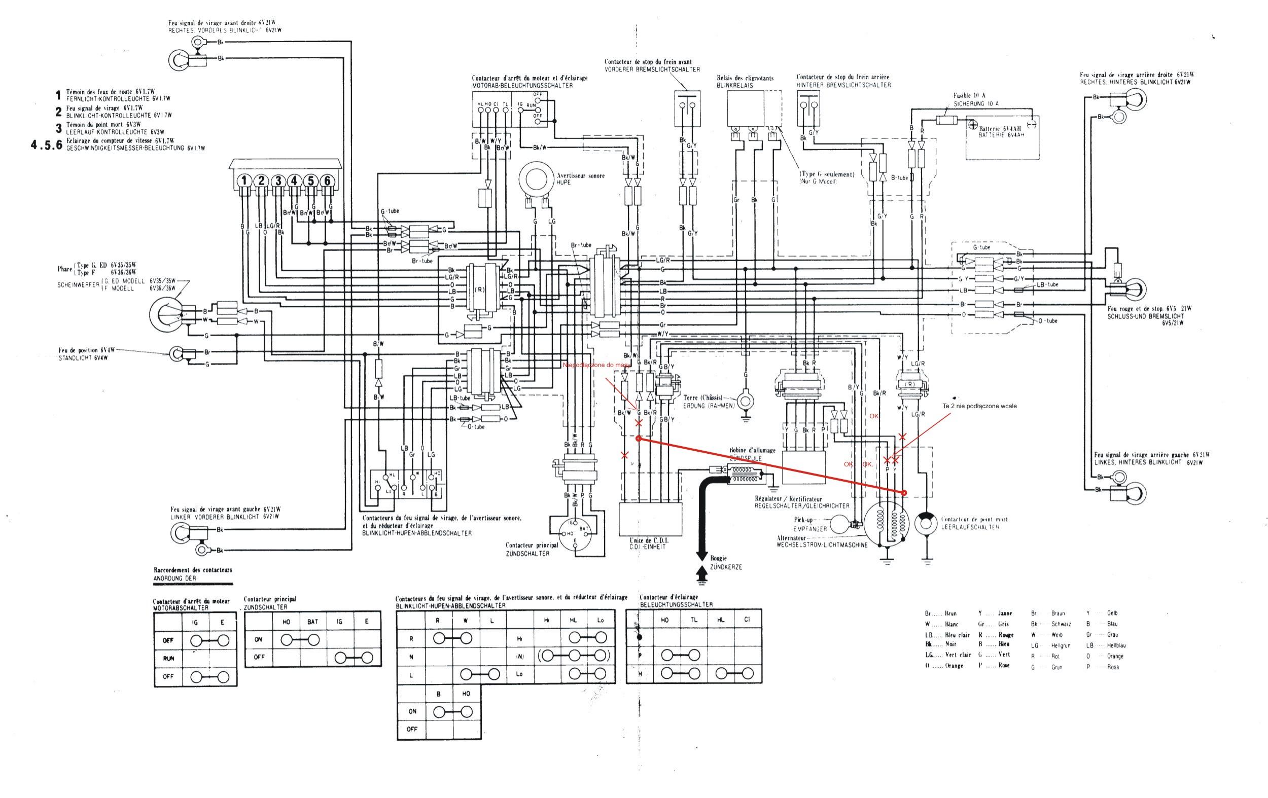 Honda XL 500 PD01 - zamontowanie �wiat�a.